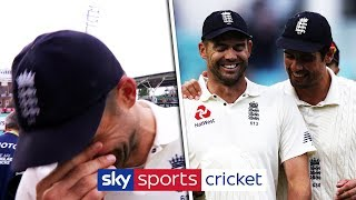 Jimmy Anderson struggles to hold back his tears over Cook retirement - YouTube
