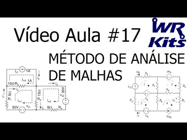 MÉTODO DE ANÁLISE DE MALHAS - Vídeo Aula #17