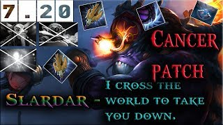 Dota 2 - NEW CANCER in 7.20 update [Slardar] THE BASH LORD - Beyond Godlike - MMR Gaming