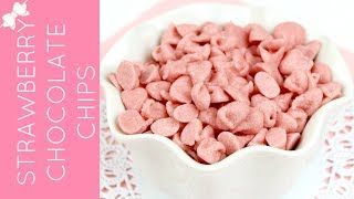 How To Make DIY Strawberry Chocolate Chips & Rainbow Baking Chips // Lindsay Ann Bakes