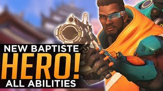 Overwatch: NEW Hero Baptiste Gameplay! - ALL Abilities Breakdown - YouTube