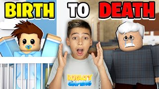 BIRTH to DEATH in Roblox Brookhaven! (Emotional Ending) | Royalty Gaming
