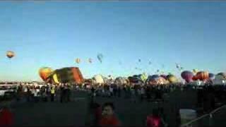 Time-Lapse 2007 Albuquerque International Balloon Fiesta