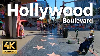 Hollywood Boulevard Walking Tour - Los Angeles, California  (4k Ultra HD 60fps) – With Captions