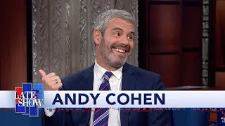 Andy Cohen And Stephen Colbert Compare Talk Show Host Beards