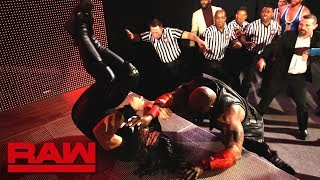 Seth Rollins and Bobby Lashley brawl as Raw comes on the air: Raw, Jan. 7, 2019