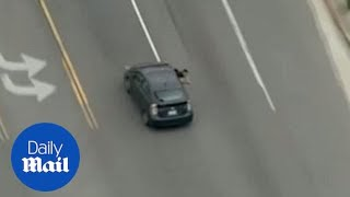 Prius pursuit!  Drivers ends police chase with shootout