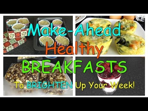 Make-Ahead Healthy BREAKFASTS To Brighten Up Your Week! - Smashpipe Style