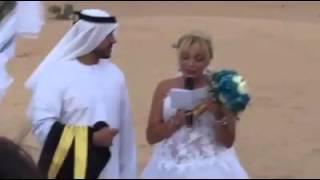 بالفيديو..إماراتى يحتفل بزواجه من فتاة فرنسية وسط الصحراء