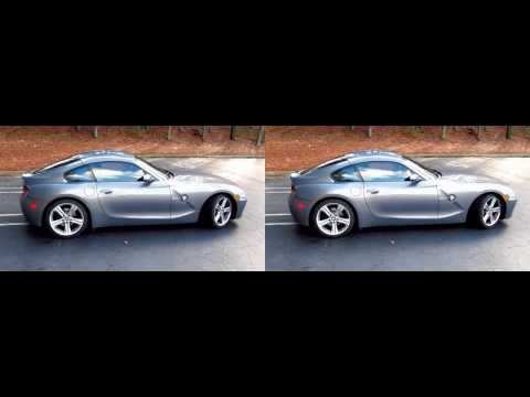 2007 BMW Z4 coupe in 3D shot with canon s95 twins yt3d