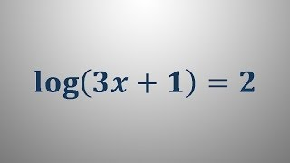 Logaritemska enačba 3