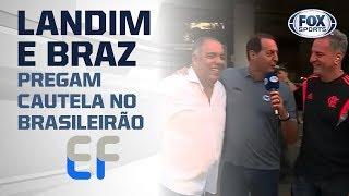 'NÃO TEM NADA GANHO': Landim e Braz pregam cautela no Brasileirão