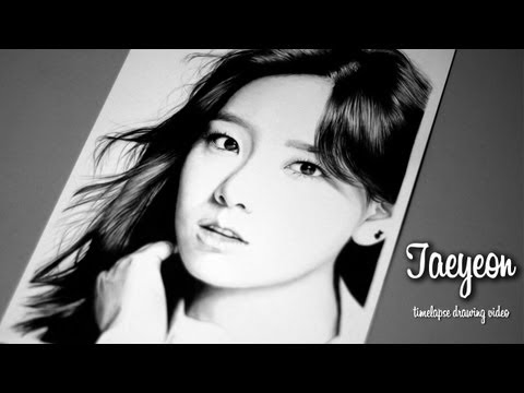 Kim Taeyeon - Graphite Pencil Drawing