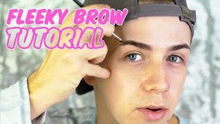 FLEEKY BROW TUTORIAL | ABH BROWS | Mitchell MUA
