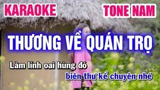 Karaoke Thương Về Quán Trọ Tone Nam Nhạc Sống   Mai Thảo Organ