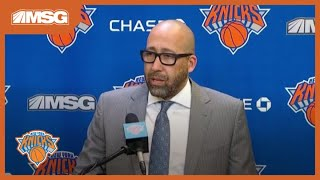 Knicks Protect The Garden, Fizdale Still Sees Work To Be Done | New York Knicks Postgame