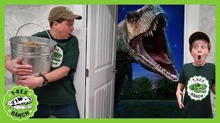 Dinosaur Escape Room! Giant T-Rex Dinosaurs Adventure For Kids & Mystery Toys