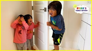 Kids Hide and Seek and Sleeping in the new house for the first time with Ryan's Family Review!!!