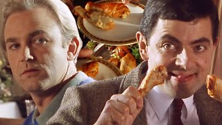 Bean Food Fight!   Funny Clips   Mr Bean Official