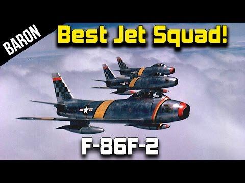 War Thunder Jets Gameplay - Best Jet Squad, F-86F-2 Gameplay