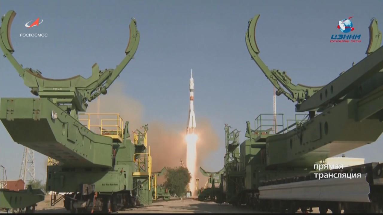 Пуск РН «Союз-2.1а» с ТПК «Союз МС-14»