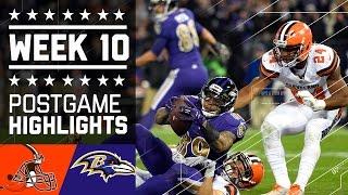 Browns vs. Ravens | NFL Week 10 Game Highlights