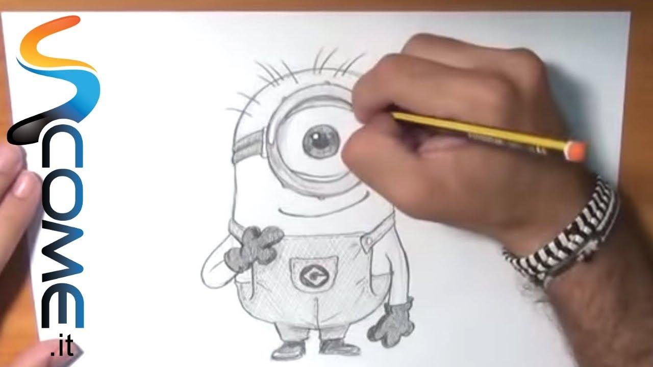 Come imparare a disegnare i minions di gru cattivissimo for Disegni da copiare a mano facili