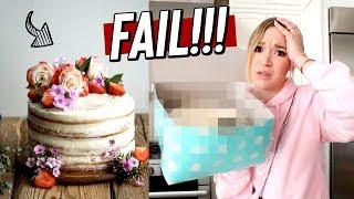 pinterest birthday cake FAIL!! expectations vs reality! vlogmas day 24