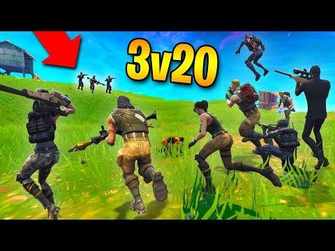 ABSOLUTELY INSANE 3v20 COMEBACK! | Fortnite Battle Royale
