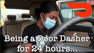 BEING A DOOR DASH DRIVER FOR 24 HOURS! HILARIOUS