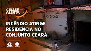 Incêndio atinge residência no Conjunto Ceará
