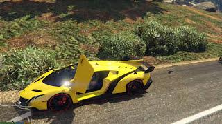 GTA 5 Mod Siêu xe tiền tỷ Lamborghini Veneno Roadster