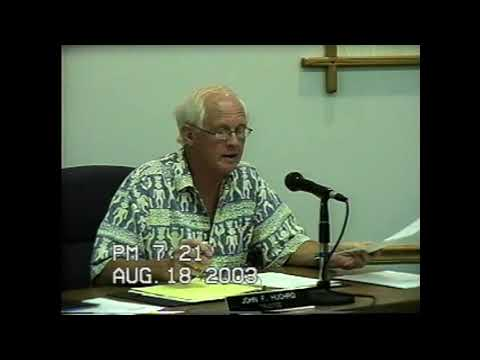 Rouses Point Village Board Meeting  8-18-03