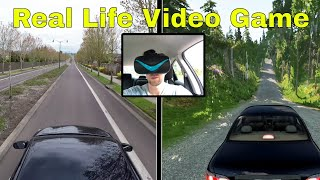 Driving a Real Car in Third Person View (Real Life Video Game)
