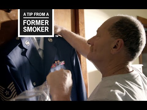 Brian, age 60, started smoking cigarettes at age 8. After high school, he joined the Air Force because he wanted a military career. At 35, still smoking and stationed in England, Brian had a heart attack and spent months in hospital rooms. In this ad from CDC's Tips From Former Smokers campaign, Brian reveals how he couldn't serve his country because of his heart disease.