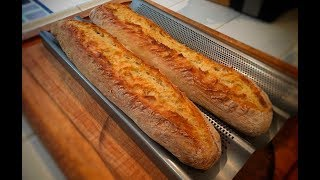 No Knead French Style Baguettes long proof better bread