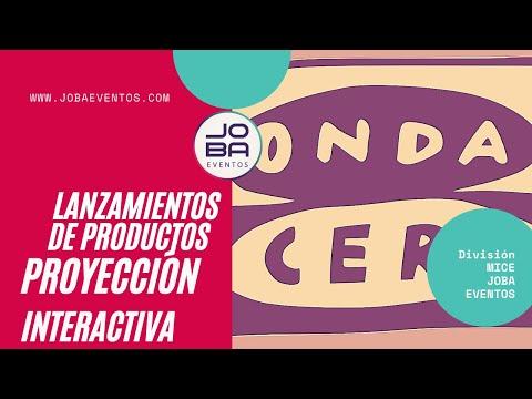 Presentaciones y lanzamientos de productos y marcas. Proyección interactiva