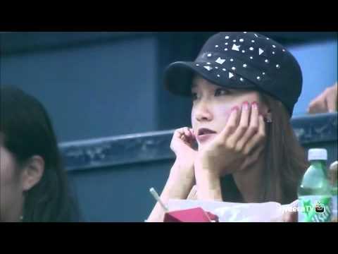 Samsung Lions VS Doosan Bears SNSD YoonA Cut [2012 Korea Professional Baseball]