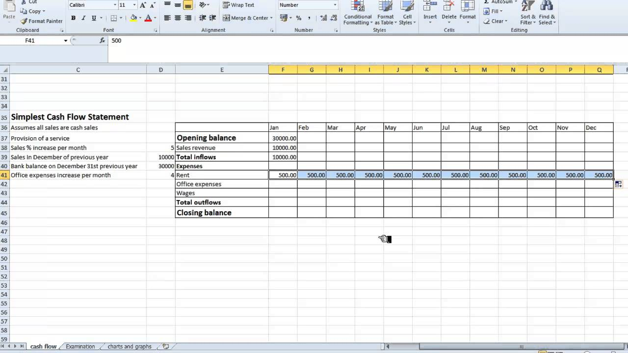 Search results for cash flow statement excel template for Cash flow schedule template