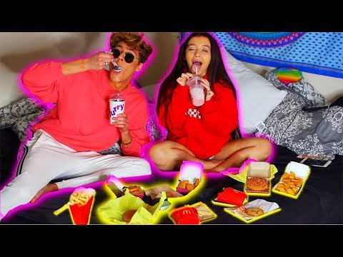 MCDONALDS NUGGETS, FRIES & CHEESEBURGER MUKBANG W/ Danielle Cohn