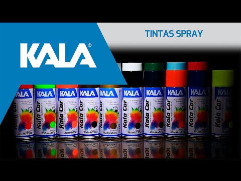TINTA SPRAY ALTA TEMPERATURA PRETO BRILHO 200ML KALA - Vídeo explicativo