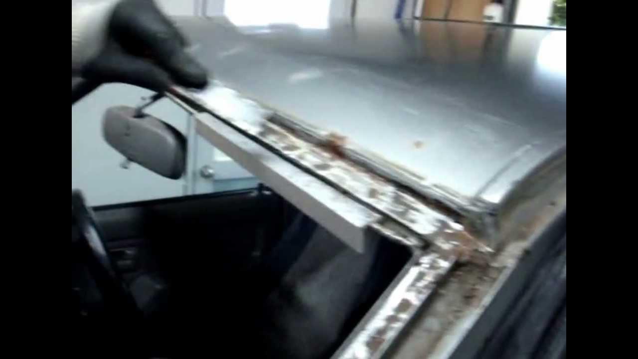 Rust Around Windscreen Repairs Lesson Youtube