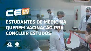 Estudantes de medicina querem vacinação pra concluir estudos