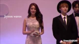 Jiyeon (T-ara) and Suga (BTS) Moments