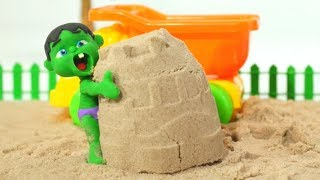 Tommy Plays With Sand 💕 Cartoons For Kids