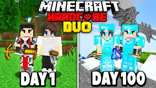 We Survived 100 Days in Hardcore Minecraft - Duo Survival Hardcore 100 Days