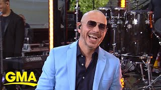 Catching up with Pitbull live on 'GMA'
