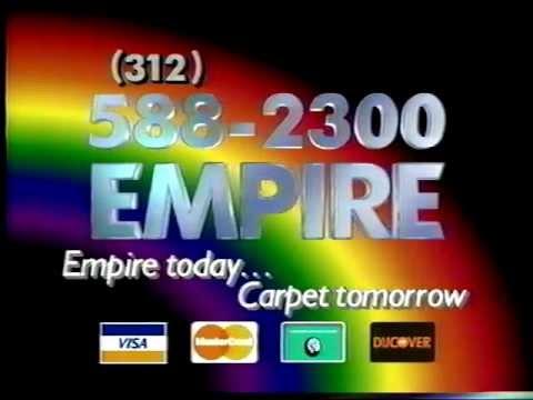 Empire Carpet Commercial - Warehouse Sale Late 1980's