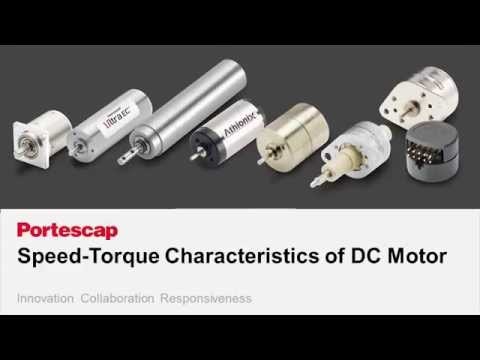 Speed - Torque Characteristics of DC Motors