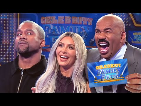 Kim & Kanye and the Kardashians Clash! All the CRAZIEST MOMENTS!!!   Celebrity Family Feud